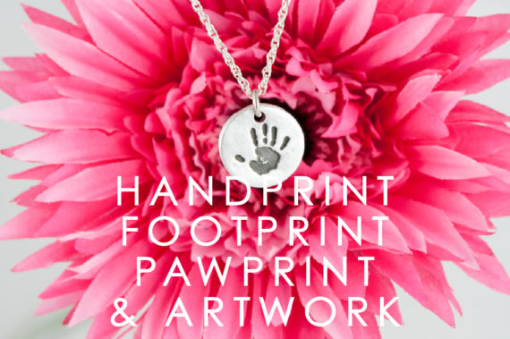 handprint footprint - jewellery